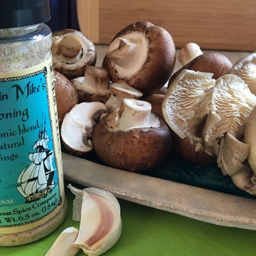 Pan-Tended Mushrooms with Captain Mike's